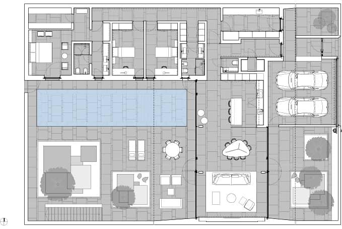 Casa jesolo lido construida con paneles prefabricados for Planos de casa minimalista una planta