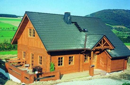 tipologías de casas de madera, vivienda permanente