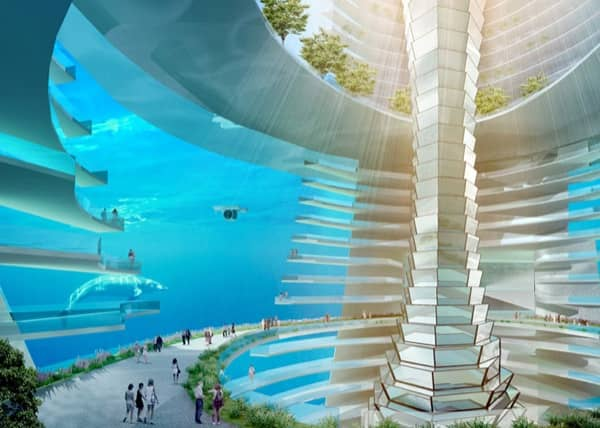 ciudad-flotante-modulos-prefabricados espacio subacuático