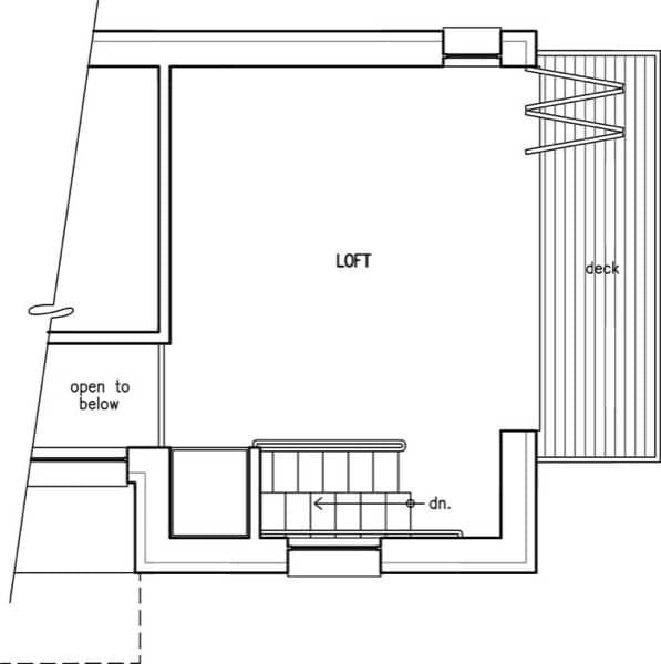 plano-planta-altillo-casa-prefabricada-LoftBox
