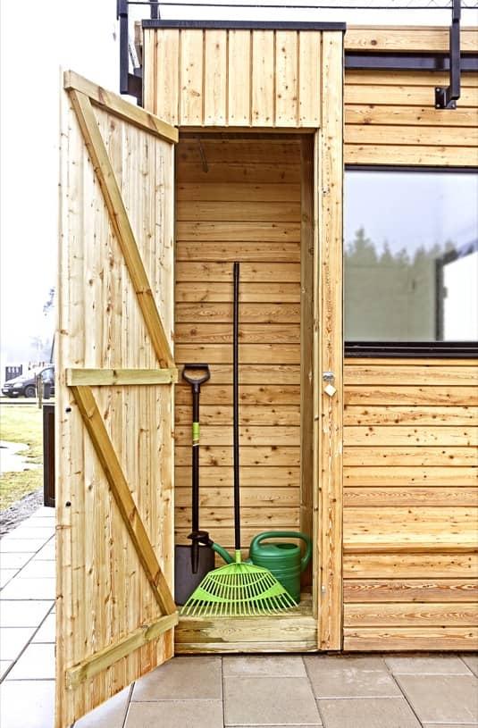 Steps 15 cobertizo prefabricado con azotea y cocina port til - Armarios de madera para jardin ...