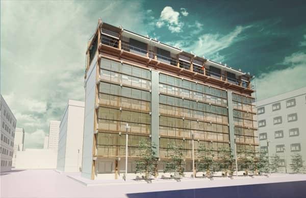 bloque-pisos-con-Casas-SymbCity-en-azotea
