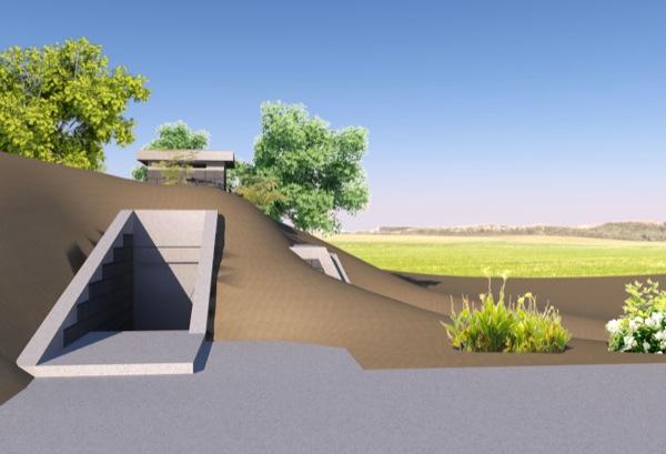 exterior-entrada-Casa-Refugio-subterráneo