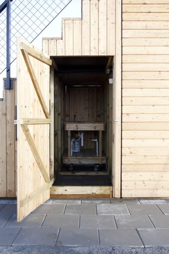 Steps 15 cobertizo prefabricado con azotea y cocina port til for Cobertizos prefabricados