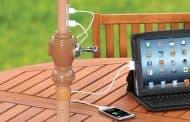 Sombrilla solar para la recarga de dispositivos