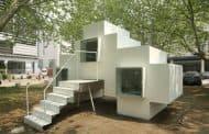 Casa Micro prefabricada de fibra de vidrio