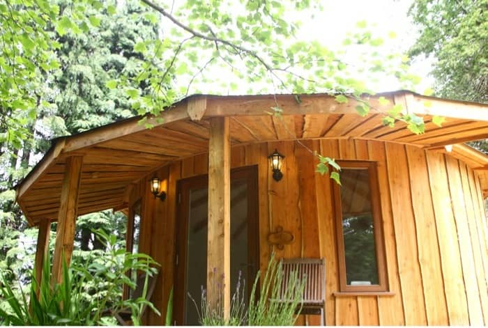 Rotunda living casetas prefabricadas ecol gicas y modulares for Casetas para guardar lena