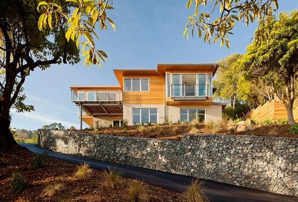 exterior-Tiburon Bay House-muro