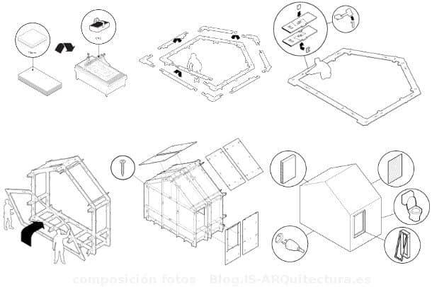 dibujos desarrollo casa wikihouse