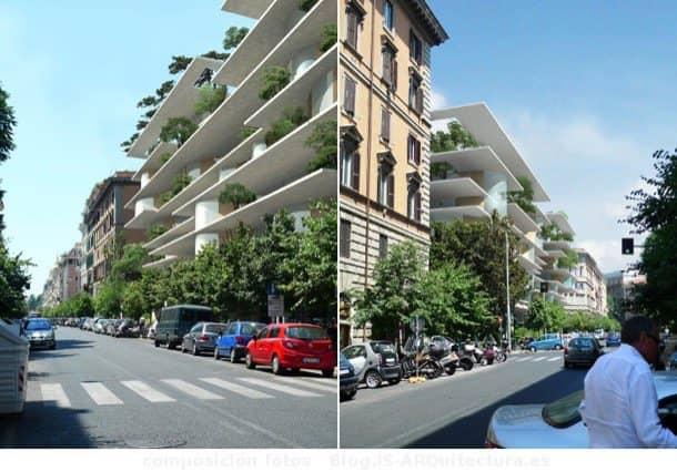 Arquitectura con vegetaci n para una reforma en roma for Palazzine moderne