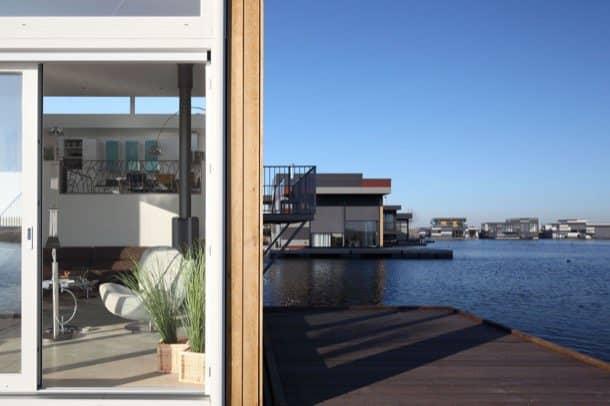 Casas flotantes prefabricadas interior exterior