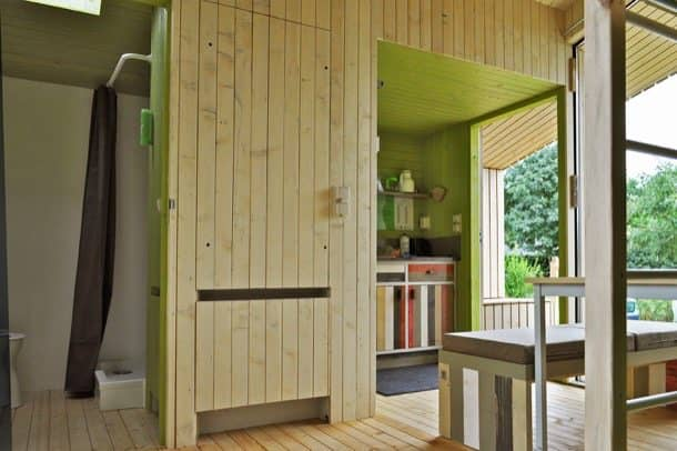 Trek-In cabaña prefabricada con baño cocina