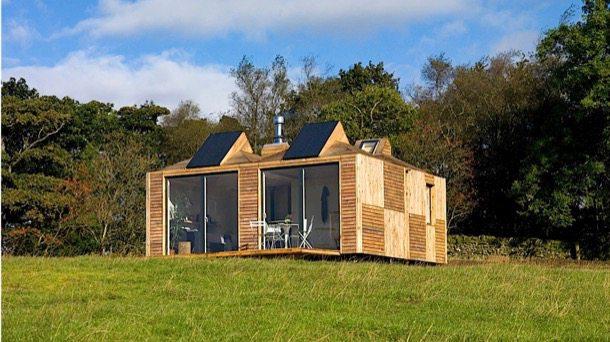 Brockloch-Bothy exterior de casa de módulos prefabricados