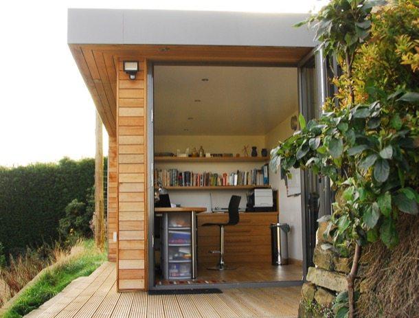 Caseta prefabricada puerta-plegable