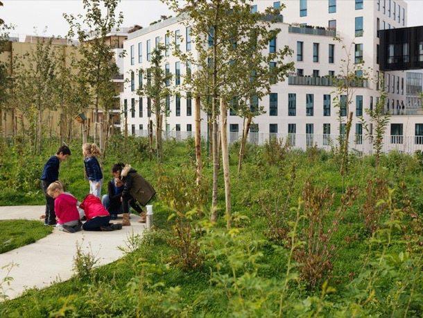 Escuela-Boulogne-Paris-cubierta-ajardinada