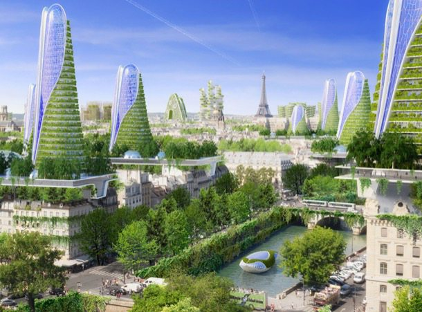 Smart-City-2050-Paris arquitectura ecológica de VincentCallebaut