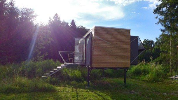 Simple home casa modular con elementos deslizantes - Casa modular prefabricada ...