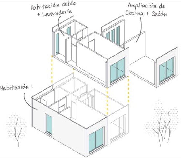 Aplihorsa casas modulares de hormig n hechas en espa a - Casas prefabricadas por modulos ...