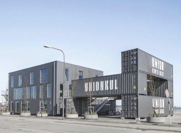 contenedores usados para edificio de oficinas desmontable