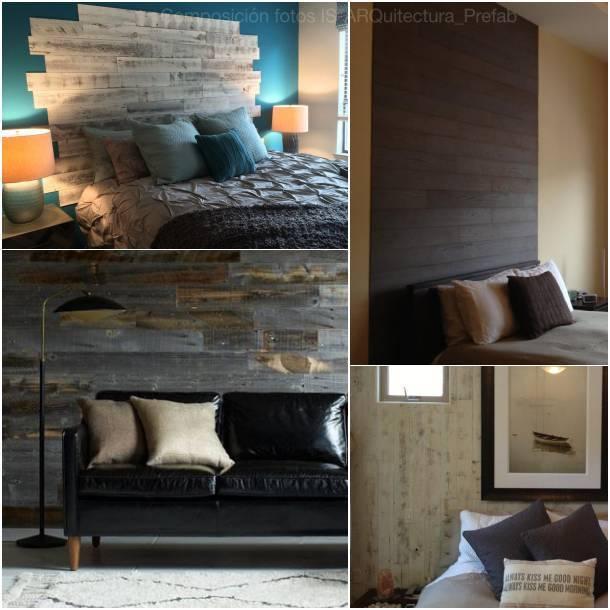 Tablas de madera maciza para decorar paredes - Decorar paredes con madera ...