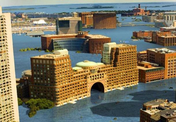 nivel del mar alto en Boston
