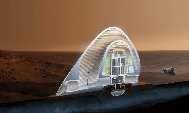 casa extraterrestre impresa 3D
