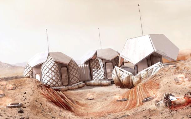 casas para vivir en Marte