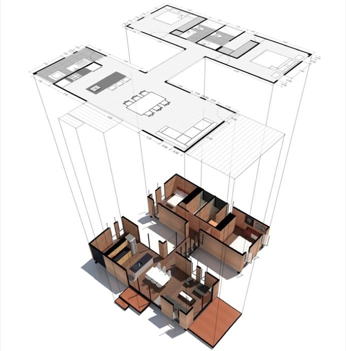 Casa prefabricada VIMOB-modelo-L