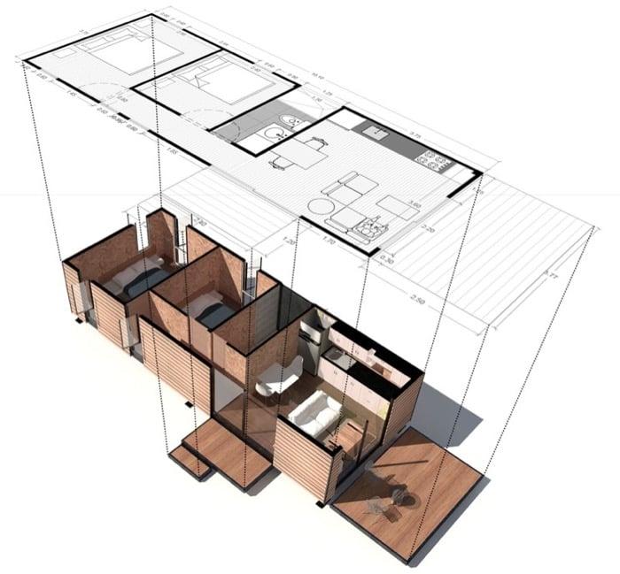 Casa prefabricada VIMOB-modelo-M