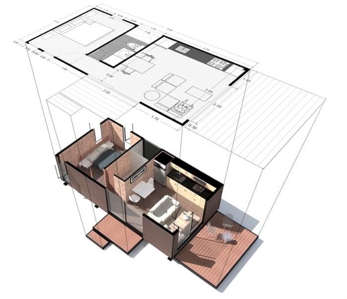 Casa prefabricada VIMOB-modelo-S