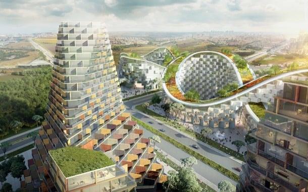 Sum Conjunto Residencial Para Estambul Con Azoteas Verdes