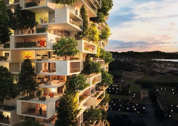 Tour des Cedres bloque de pisos con árboles