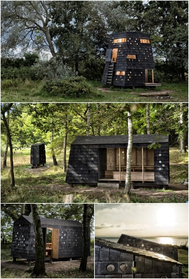 refugio de madera isla Fiona