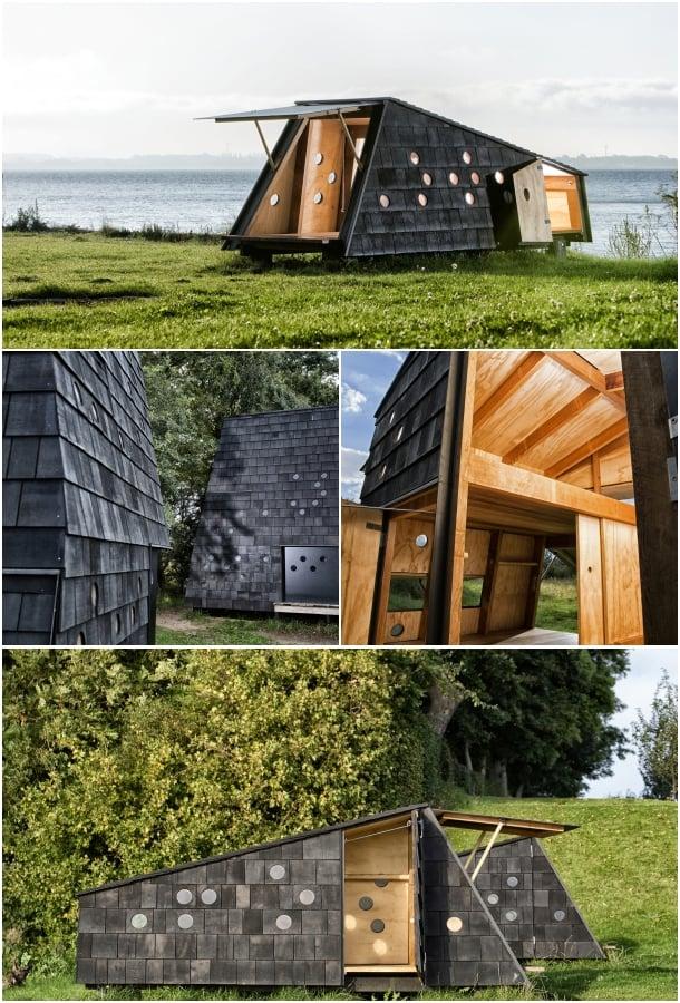 refugios de madera isla Fiona