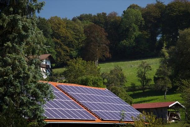 vivienda alemana con paneles solares