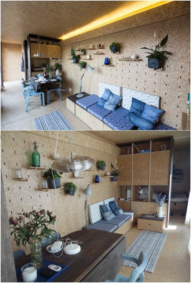Casa contenedor interior