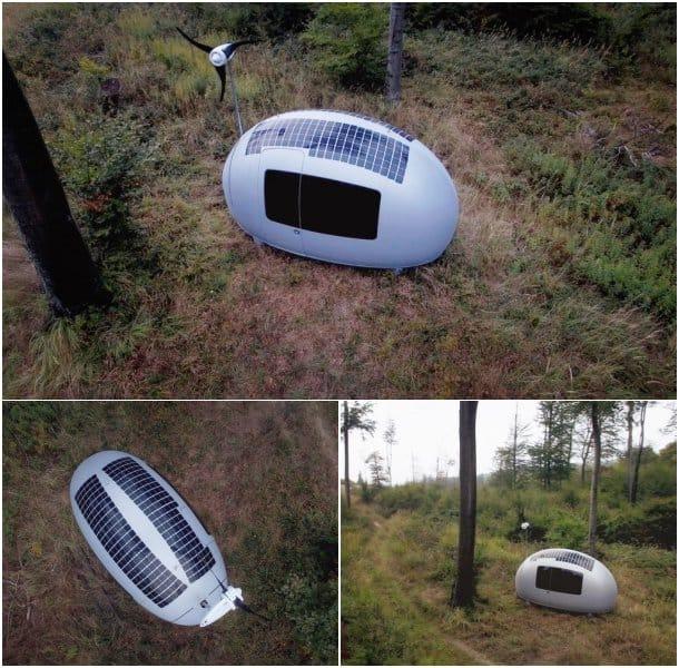 cabaña autosuficiente solar eolica