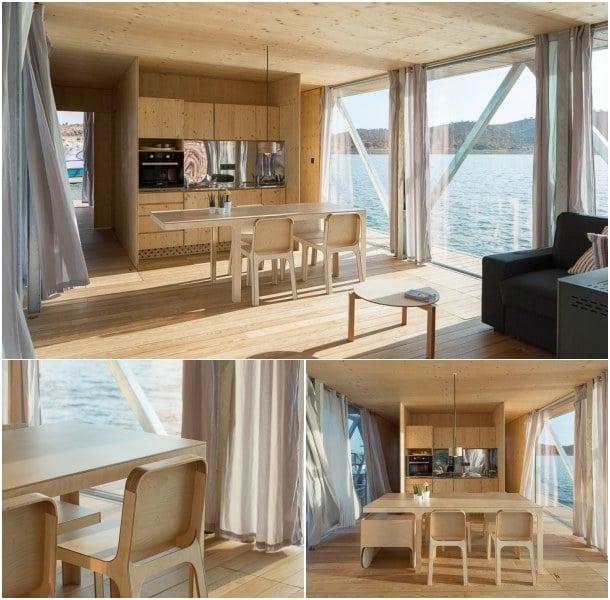 interior vivienda flotante