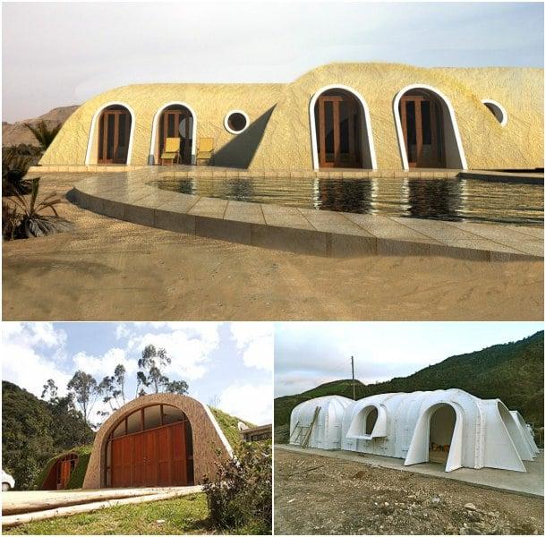 casas semienterradas prefabricadas