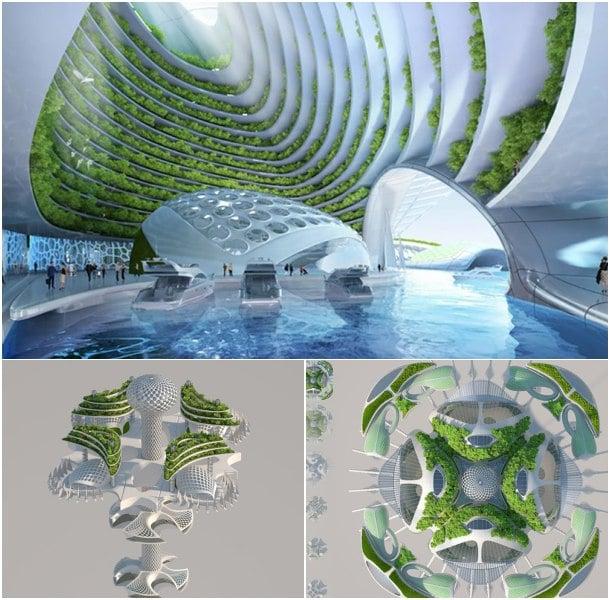 ciudad flotante futurista de Vincent Callebaut