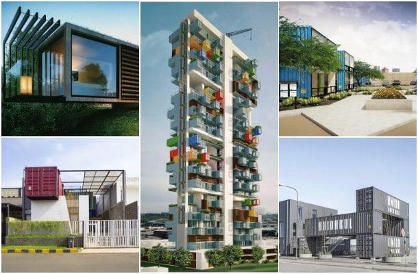 5 Ejemplos de construcción con contenedores