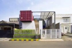 construcción con contenedores