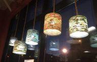 Lámparas artesanales a partir de filtros de café reciclados