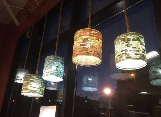 lámparas artesanales colgantes