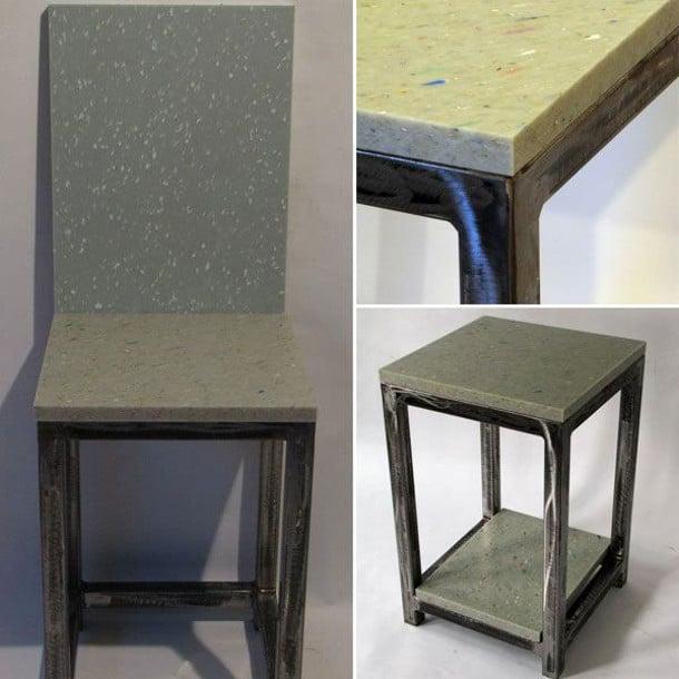 Muebles de acero y panel de pl stico reciclado 100 - Muebles de plastico ...