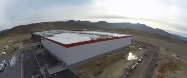 vista aérea Gigafabrica Nevada Tesla