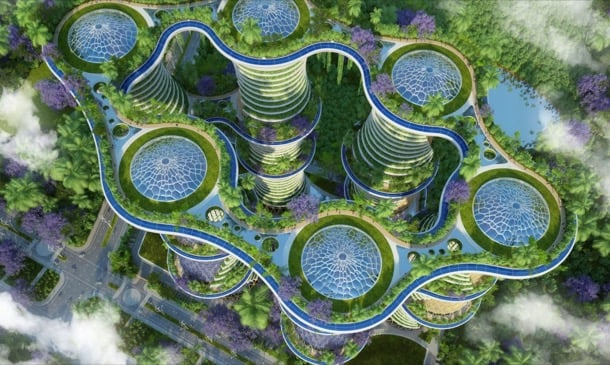 Hyperions: ciudad autosuficiente para la India, por Vincent Callebaut