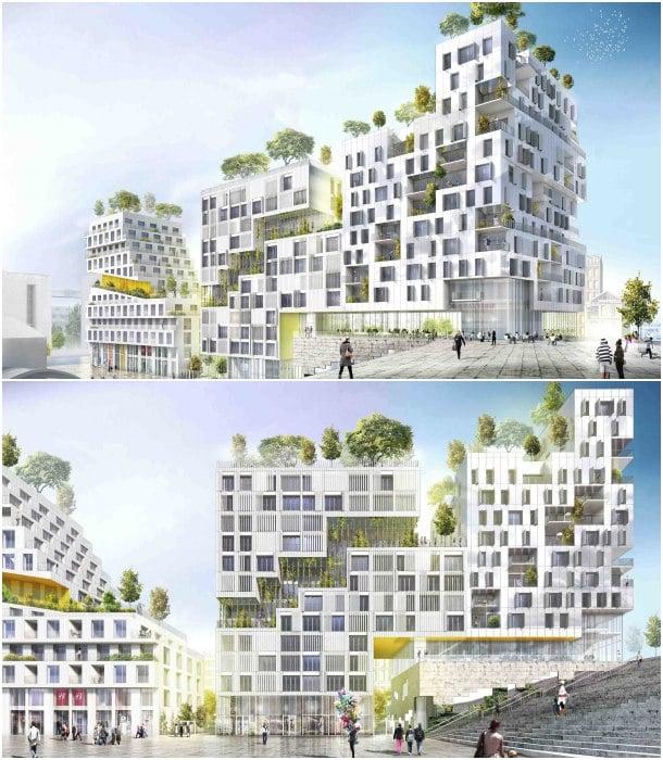 bloques de apartamentos Paris