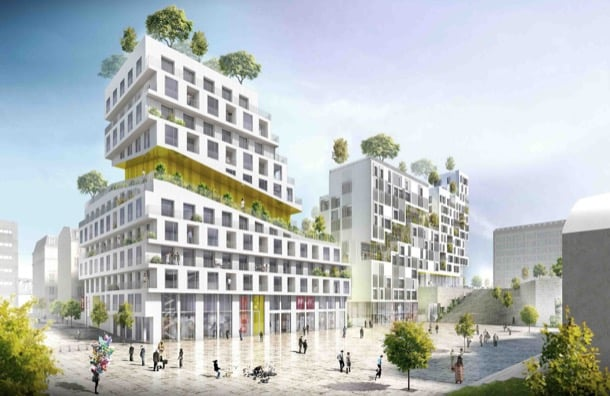 bloques de apartamentos ZAC Rive Gauche