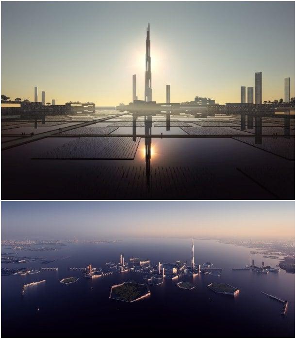 ciudad futurista bahia de Tokyo